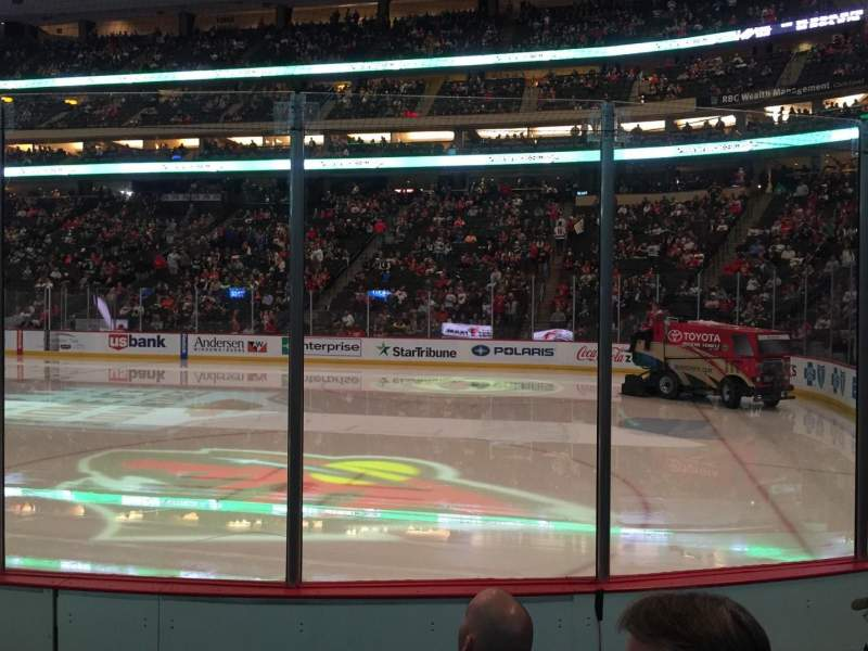 Seating view for Xcel Energy Center Section 114 Row 5 Seat 4