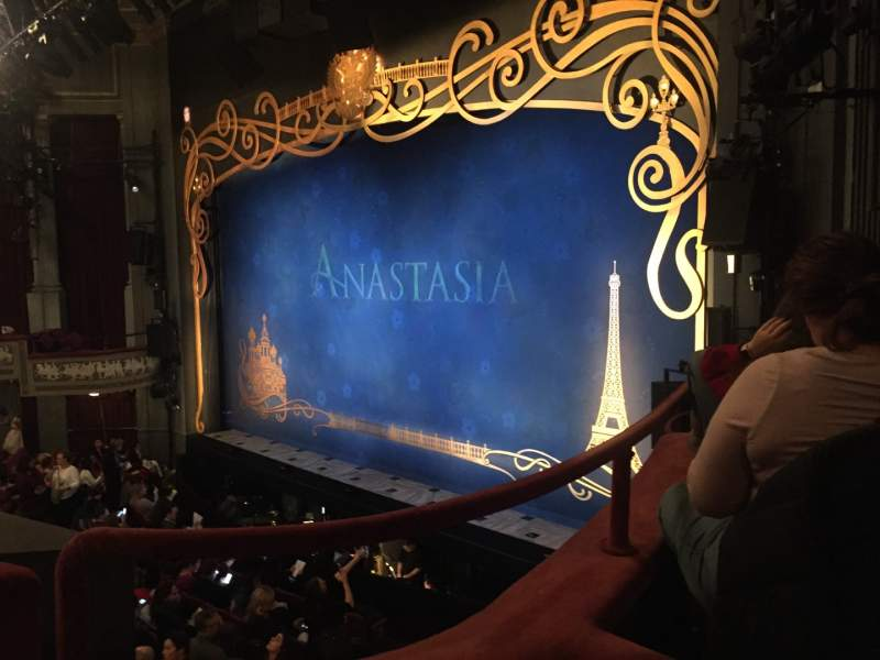 Seating view for Broadhurst Theatre Section Mezzanine R Row B Seat 26