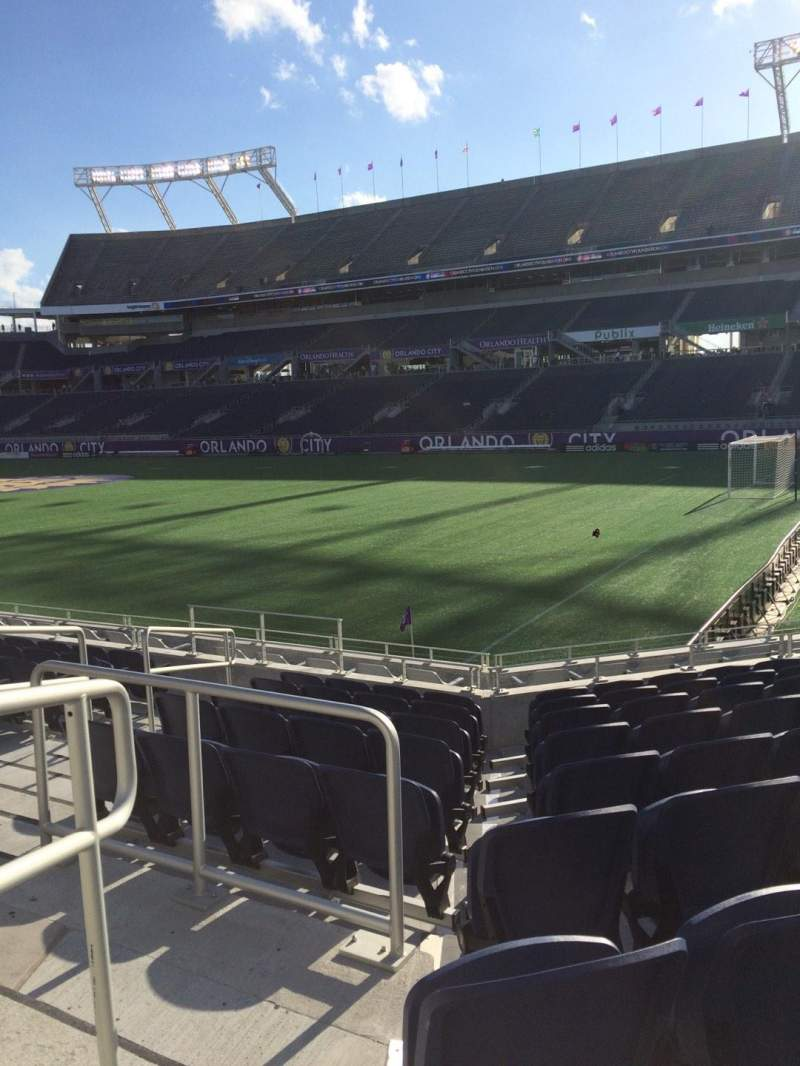 Seating view for Camping World Stadium Section 101 Row M Seat 16