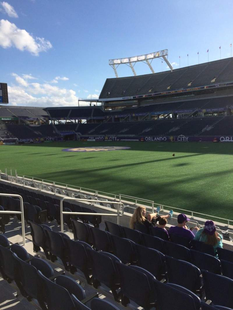 Seating view for Camping World Stadium Section 103 Row K Seat 28