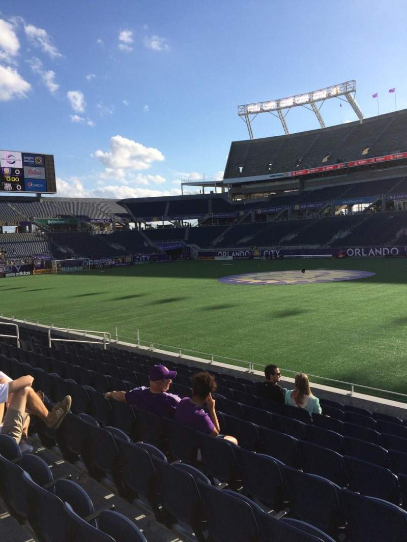 Seating view for Camping World Stadium Section 106 Row K Seat 3
