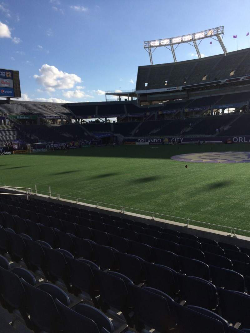 Seating view for Camping World Stadium Section 107 Row J Seat 3