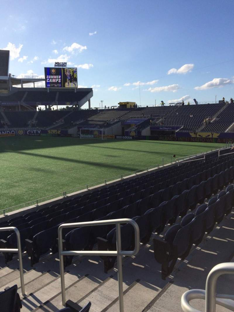 Seating view for Camping World Stadium Section 108 Row K Seat 3