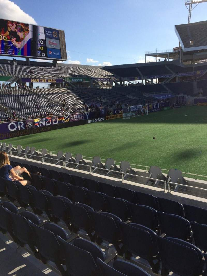 Seating view for Camping World Stadium Section 110 Row J Seat 3