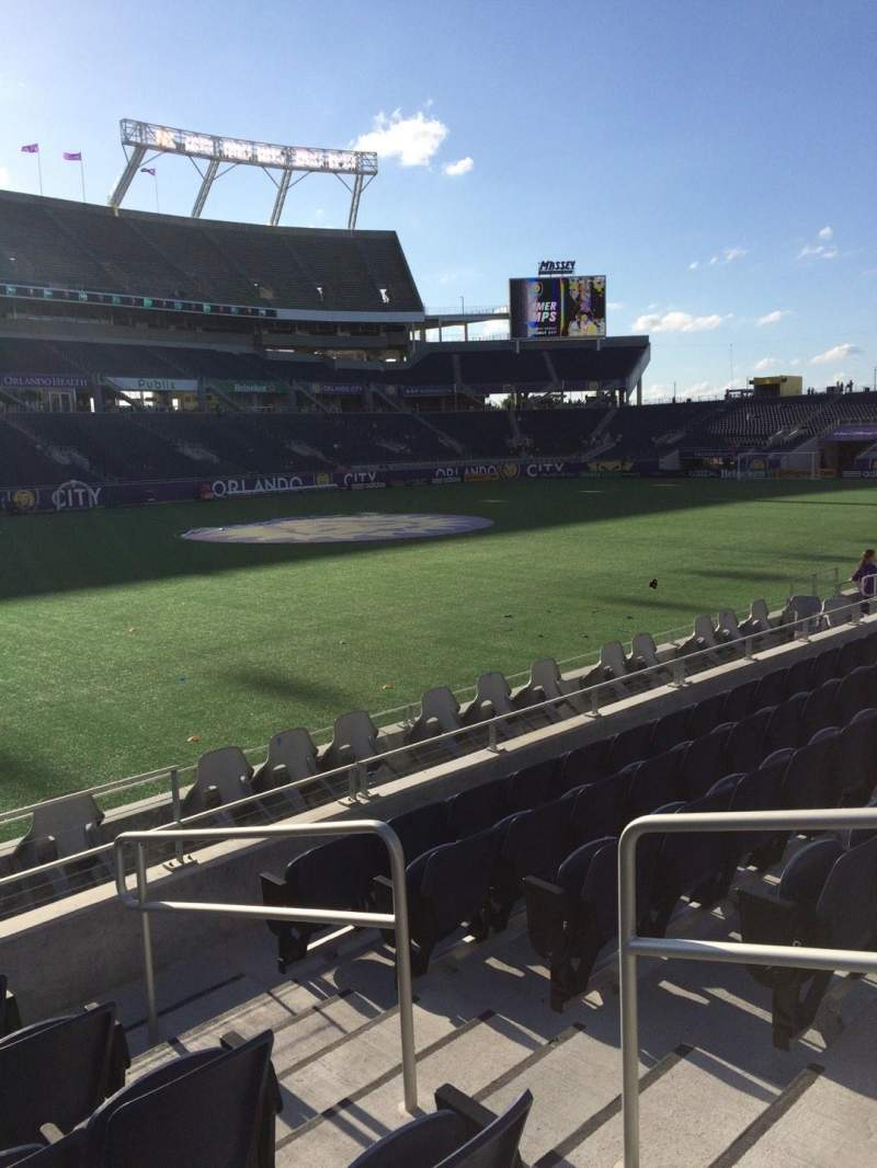 Seating view for Camping World Stadium Section 111 Row J Seat 3