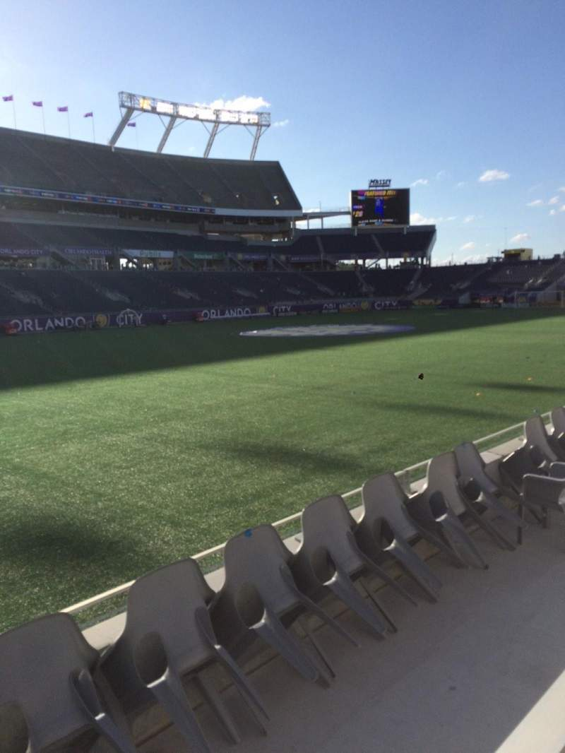 Seating view for Camping World Stadium Section 113 Row D Seat 1
