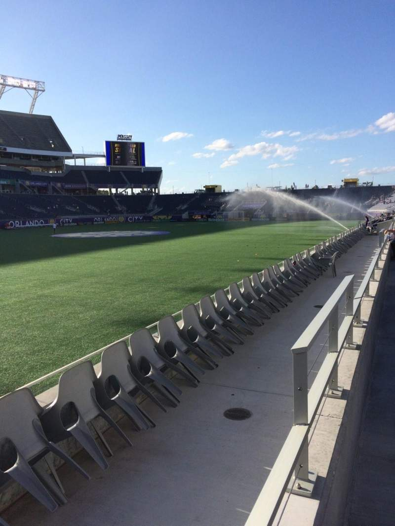Seating view for Camping World Stadium Section 115 Row D Seat 16