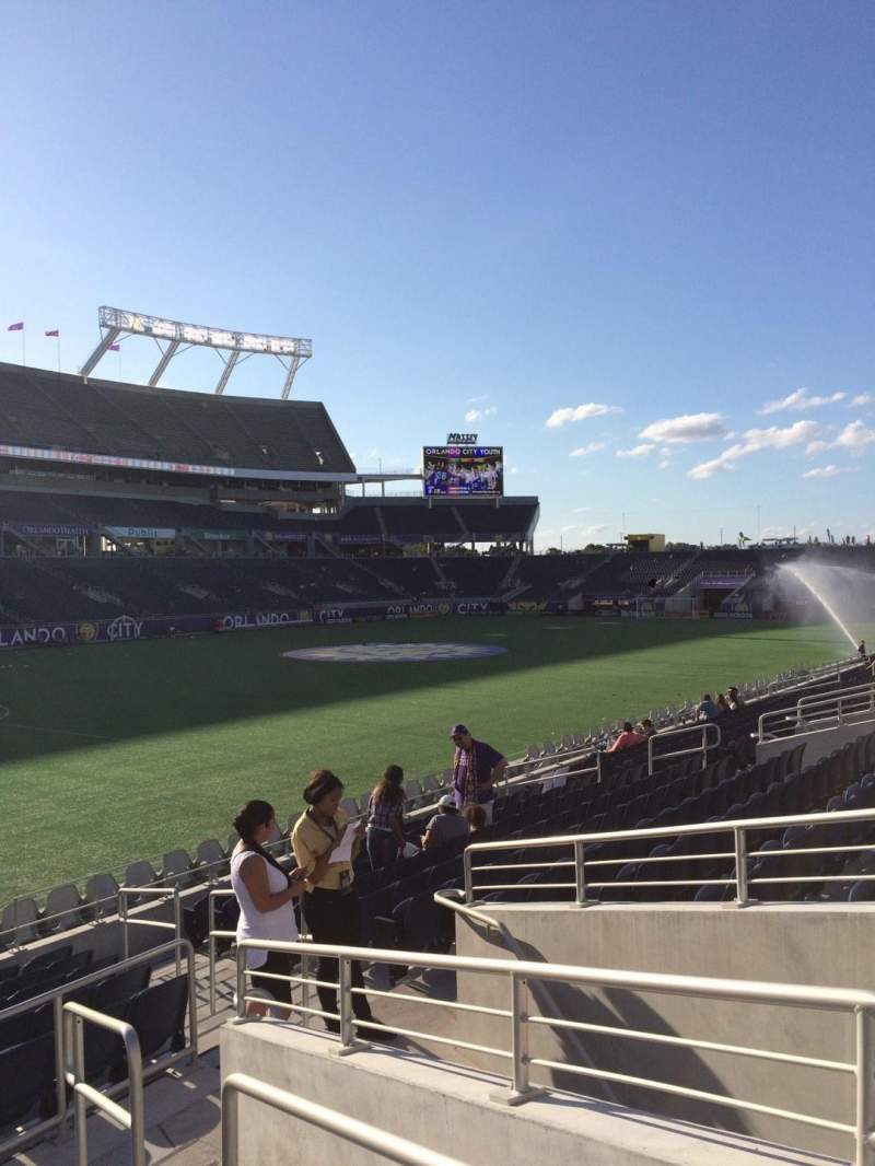 Seating view for Camping World Stadium Section 115 Row Q Seat 11