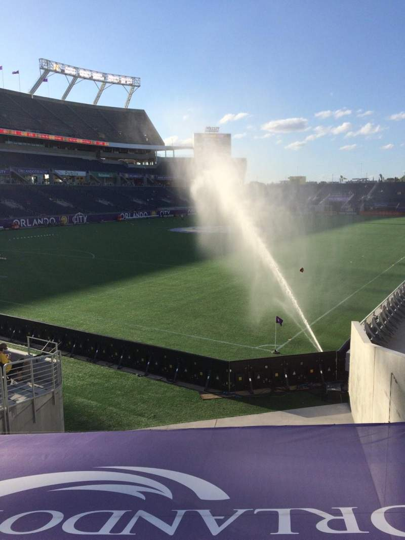 Seating view for Camping World Stadium Section 117 Row Q Seat 7