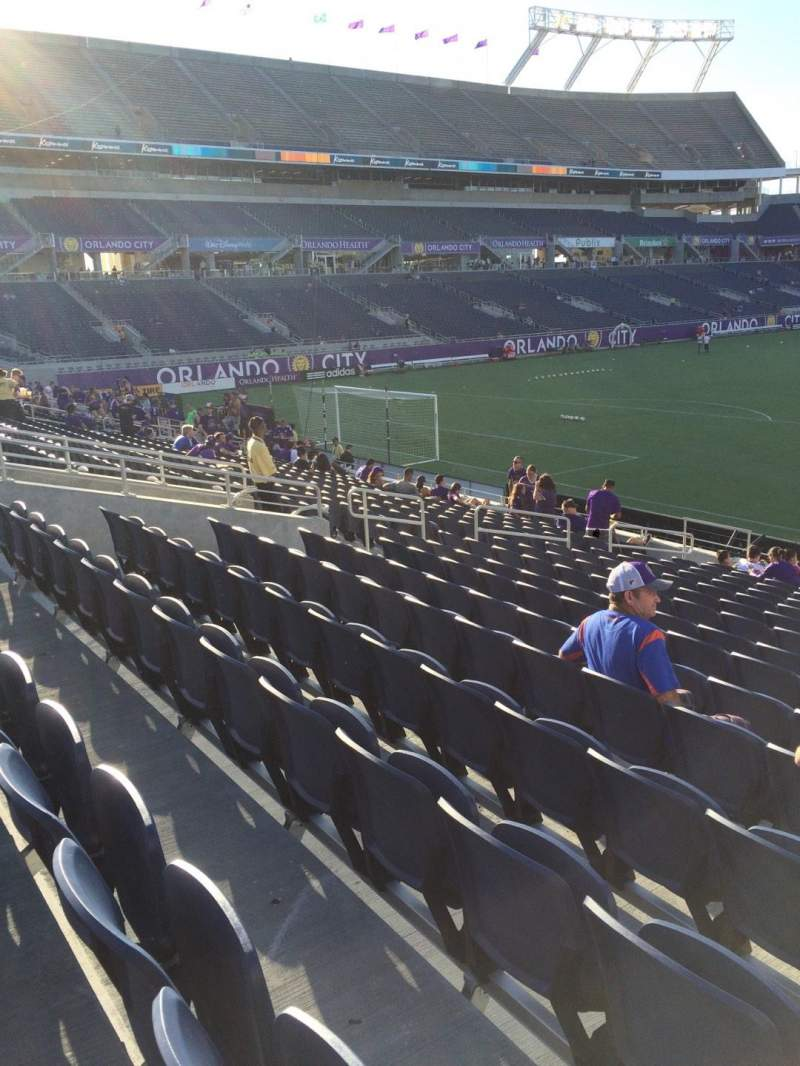Seating view for Camping World Stadium Section 119 Row Q Seat 18