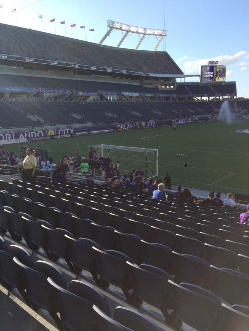 Seating view for Camping World Stadium Section 121 Row Q Seat 8