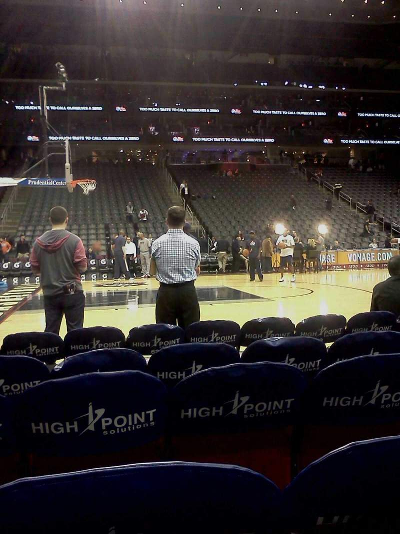 Seating view for Prudential Center Section 18 Row 1 Seat 10