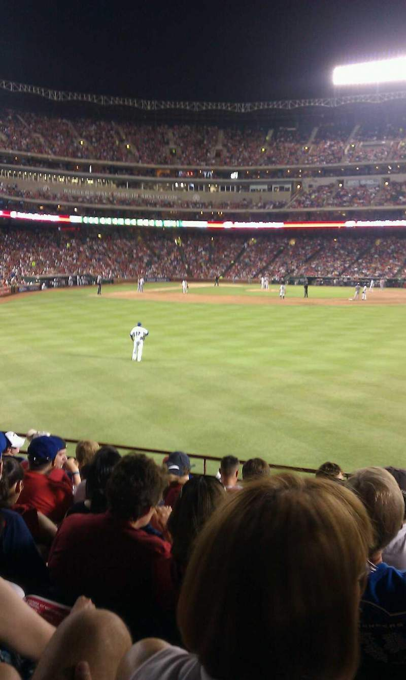 Seating view for Globe Life Park in Arlington Section 47 Row 9 Seat 15