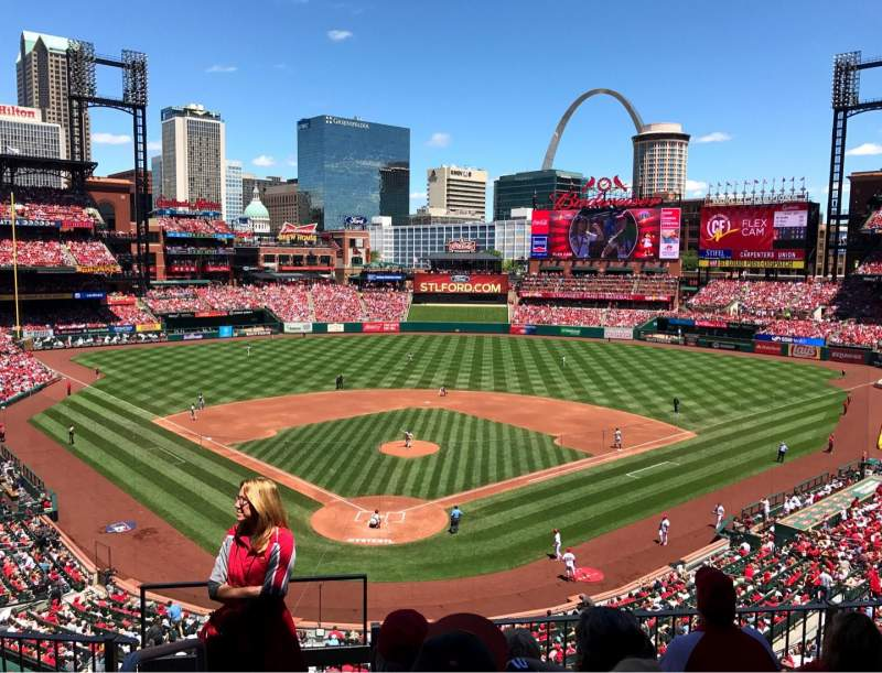 Seating view for Busch Stadium Section 249 Row 5 Seat 1