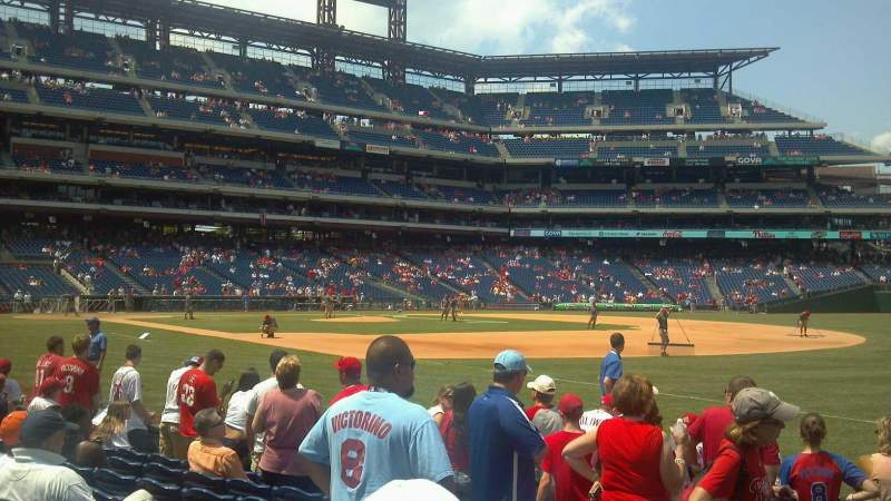 Seating view for Citizens Bank Park Section 111 Row 9 Seat 9