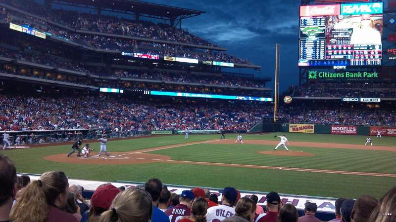 Seating view for Citizens Bank Park Section 117 Row 13 Seat 6