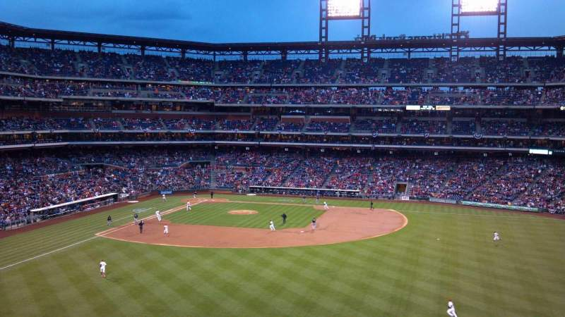 Seating view for Citizens Bank Park Section 201 Row 8 Seat 25