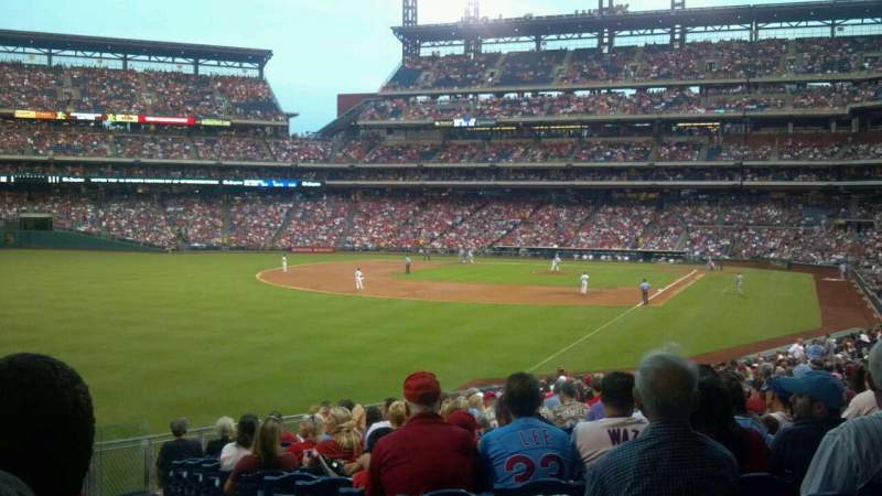 Seating view for Citizens Bank Park Section 140 Row 19 Seat 1