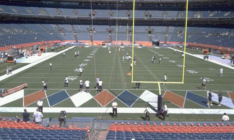 Seating view for Sports Authority Field at Mile High Section 132