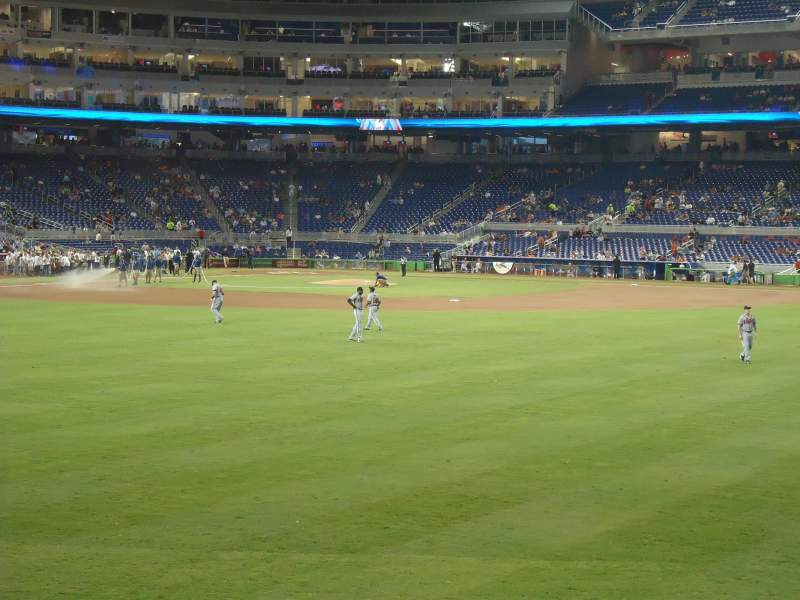 Seating view for Marlins Park Section 35 Row a-4 Seat 3
