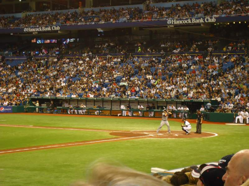 Seating view for Tropicana Field Section 121 Row T Seat 1
