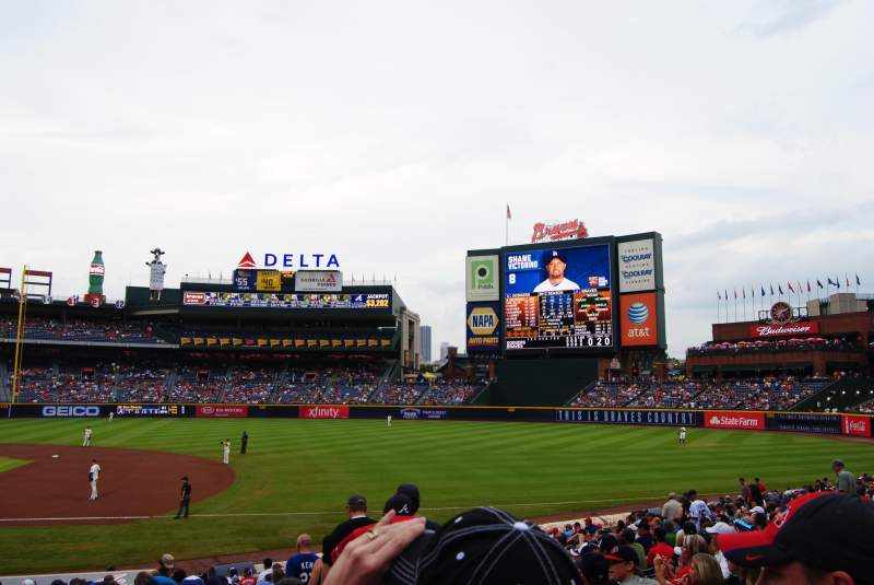 Seating view for Turner Field Section 117 Row 23 Seat 103