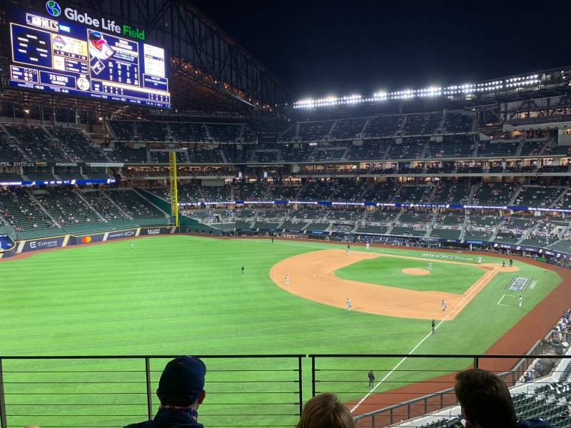 Seating view for Globe Life Field Section SB1 Row 4 Seat 8