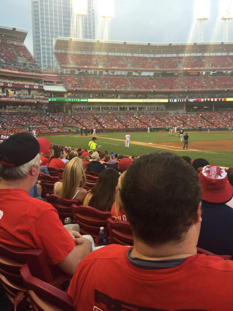 Seating view for Great American Ball Park Section 134 Row N Seat 8