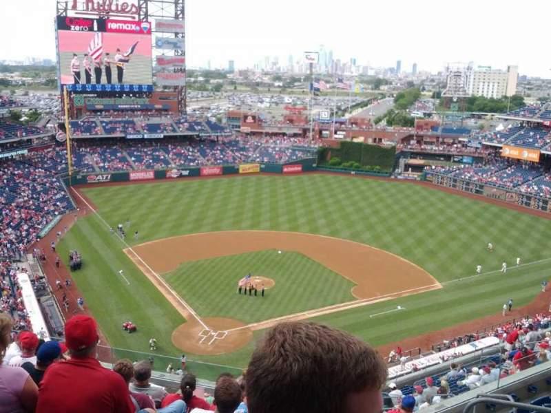 Seating view for Citizens Bank Park Section 419 Row 9 Seat 8