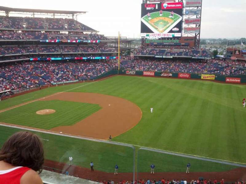 Seating view for Citizens Bank Park Section 312 Row 2 Seat 4