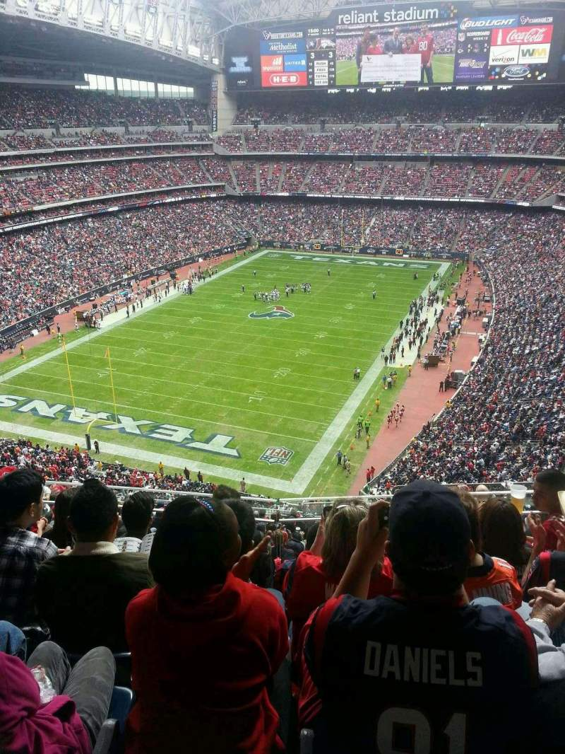 Seating view for NRG Stadium Section 618 Row E Seat 11