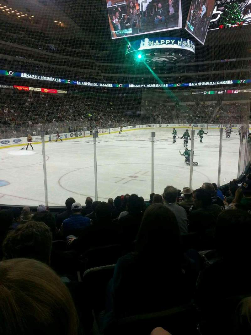 Seating view for American Airlines Center Section 123 Row K Seat 7