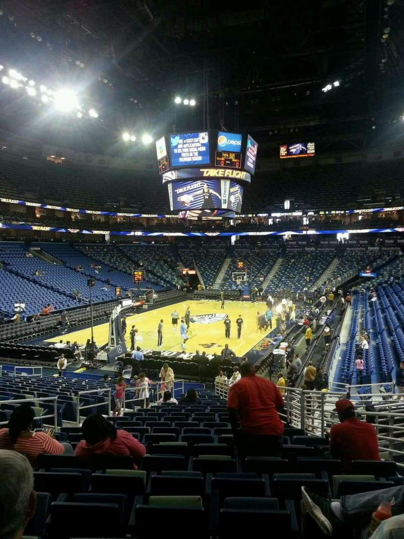 Seating view for Smoothie King Center Section 117 Row 22 Seat 12