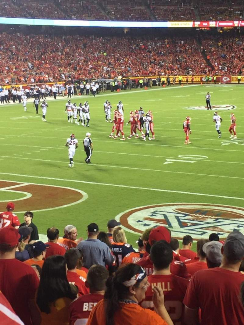 Seating view for Arrowhead Stadium Section 126 Row 19 Seat 3