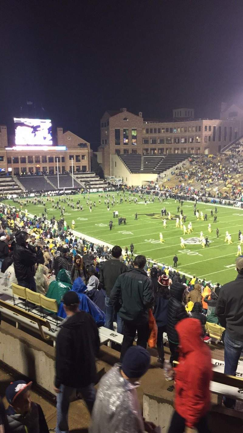 Seating view for Folsom Field Section 204 Row 51 Seat 6