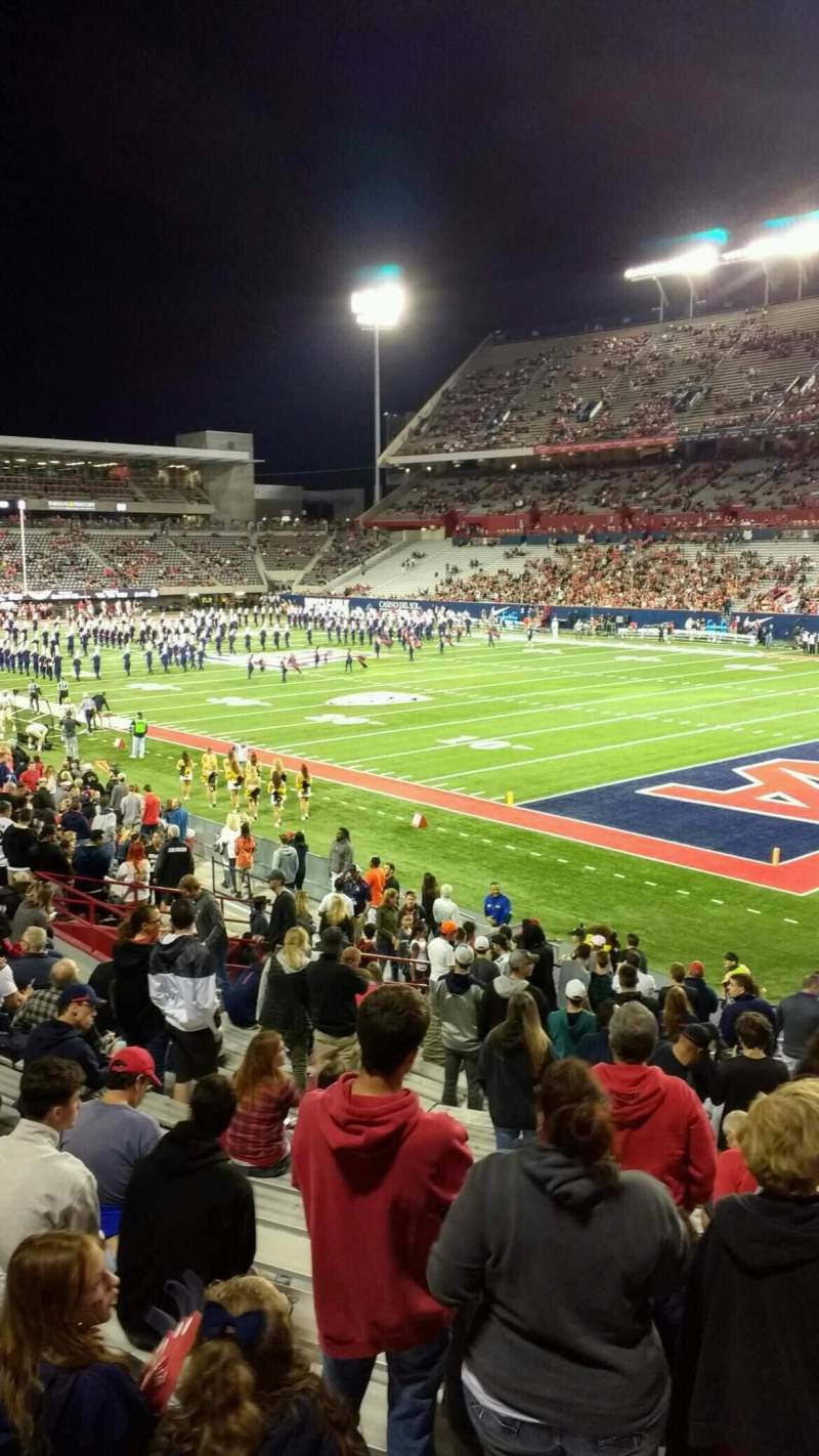 Seating view for Arizona Stadium Section 16 Row 25 Seat 5