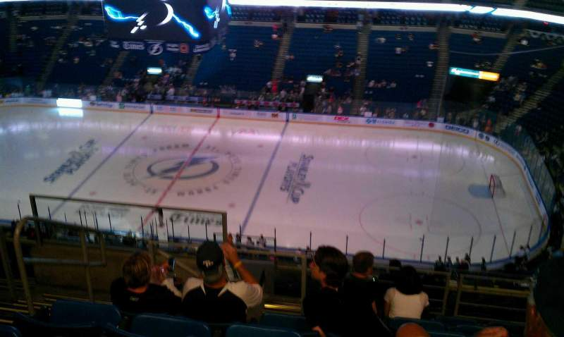 Seating view for Amalie Arena Section 314 Row M Seat 23