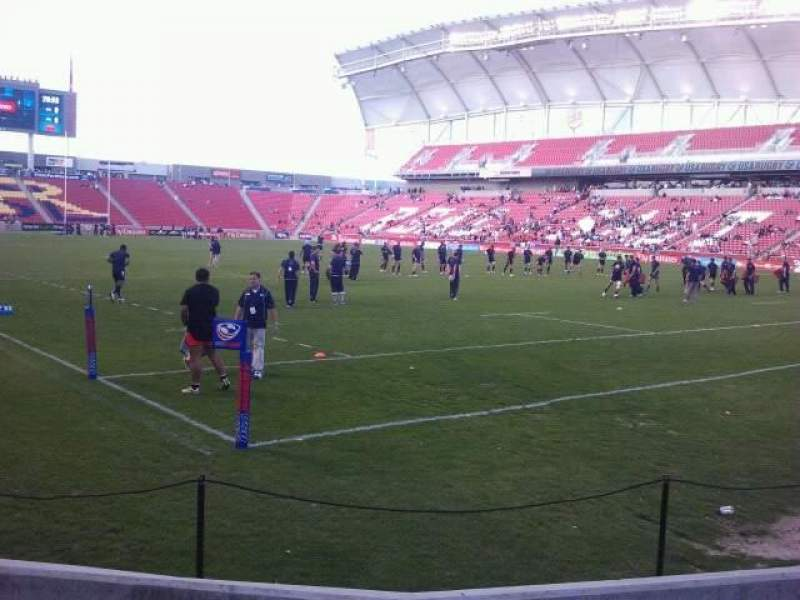 Seating view for Rio Tinto Stadium Section 13 Row D Seat 3