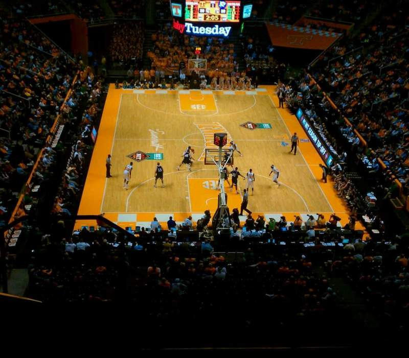 Seating view for Thompson-Boling Arena Section 313