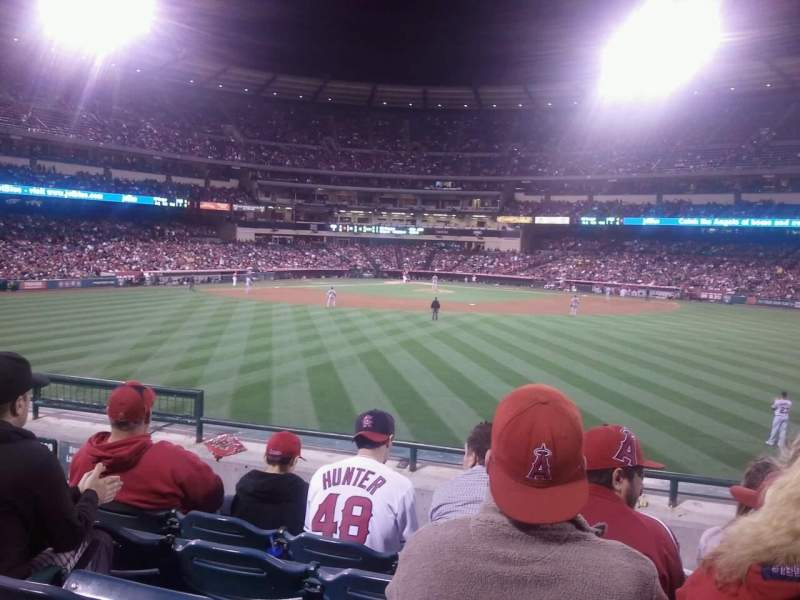 Seating view for Angel Stadium Section P240 Row E Seat 7