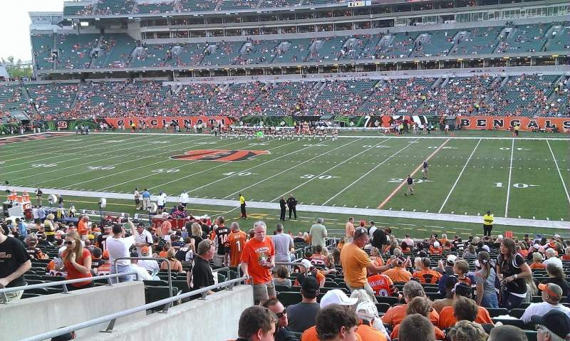 Seating view for Paul Brown Stadium Section 136 Row 32 Seat 15