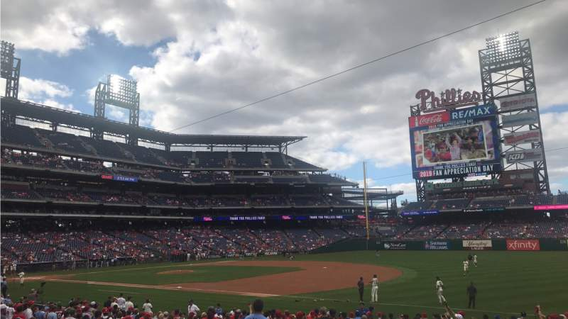 Seating view for Citizens Bank Park Section 112 Row 23 Seat 13