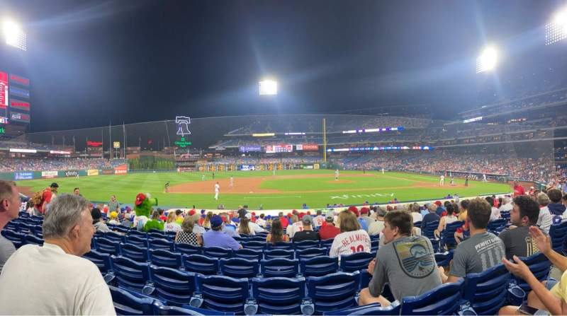 Seating view for Citizens Bank Park Section 131 Row 16 Seat 5