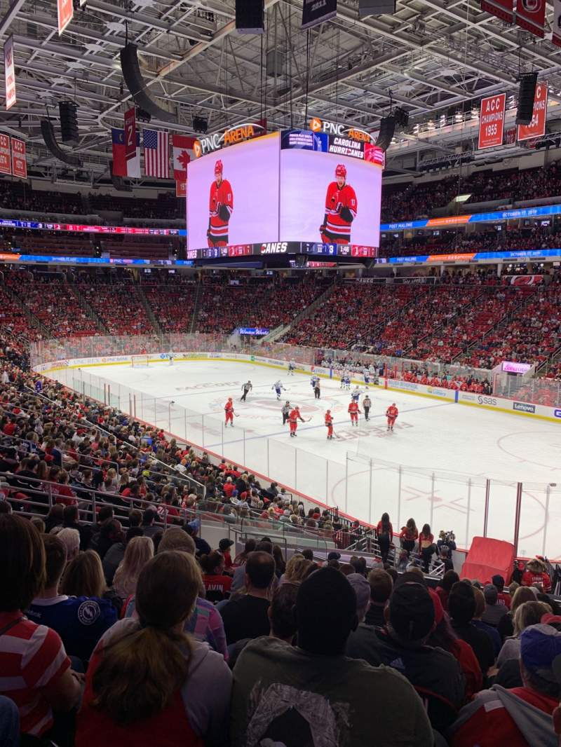 Seating view for PNC Arena Section 115 Row Z Seat 2