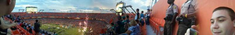 Seating view for Hard Rock Stadium Section Old 409 Row last Seat 2