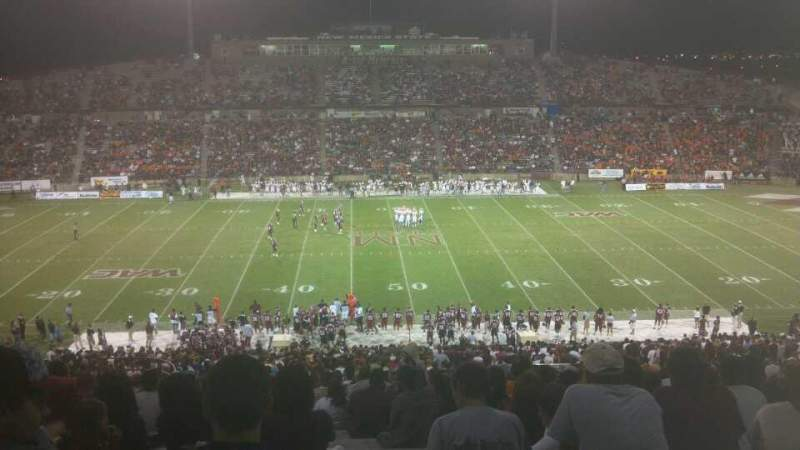 Seating view for Aggie Memorial Stadium Section T
