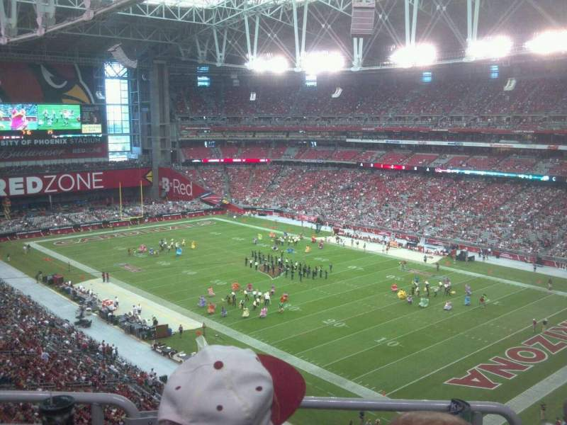 Seating view for University of Phoenix Stadium Section 436 Row 5 Seat 13