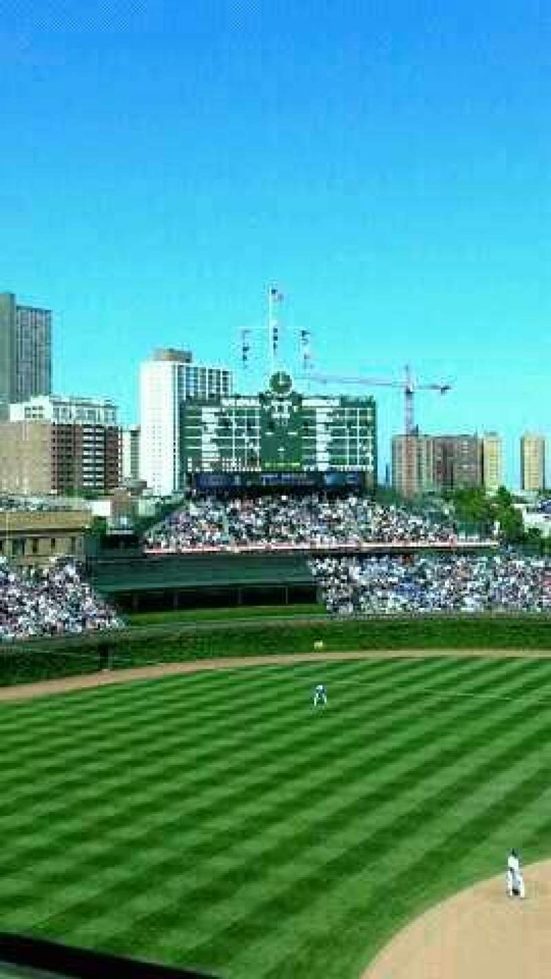 Seating view for Wrigley Field Section 413 Row 1 Seat 104