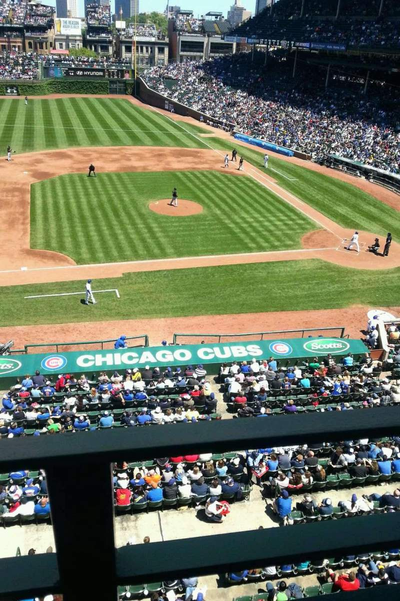 Seating view for Wrigley Field Section 413 Row 1 Seat 103
