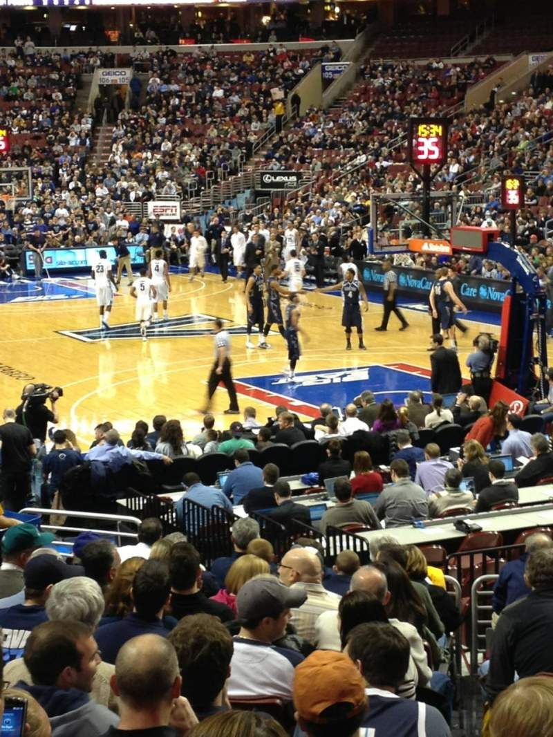 Seating view for Wells Fargo Center Section 117 Row 15 Seat 12